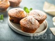 Рецепта Кексчета / мъфини без глутен и лактоза с оризово брашно, смлени бадеми и кокосово масло